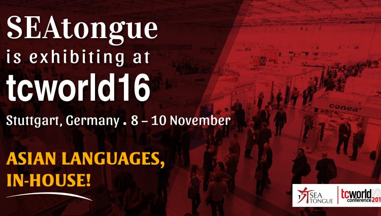 SEAtongue is Exhibiting At The Tcworld Conference 2016!