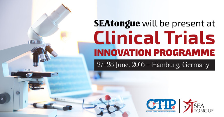 SEAtongue Will Be Present At The Clinical Trials Innovation Program (CTIP) 2016