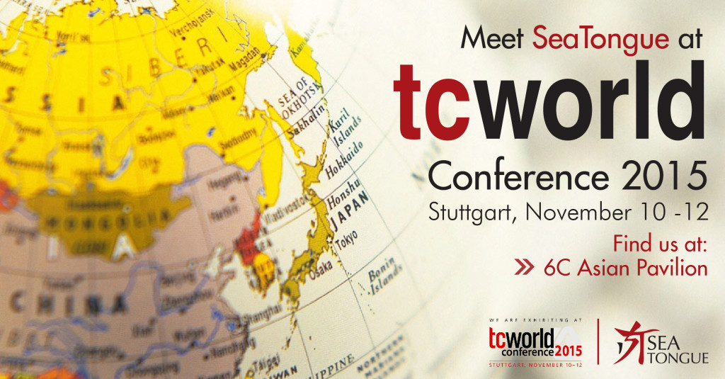 SEAtongue Is Exhibiting At TCWORLD Conference 2015